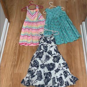 3 cotton sundresses. Size 4T